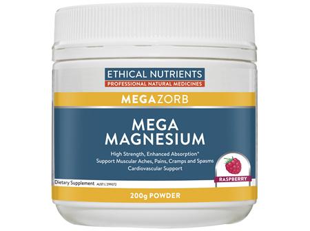 Ethical Nutrients Mega Magnesium Raspberry 200g