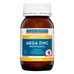 ETHICAL NUTRIENTS Mega Zinc Powder Raspberry 95g