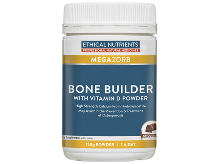 Ethical Nutrients MEGAZORB Bone Builder with Vitamin D Powder Chocolate 150g Powder