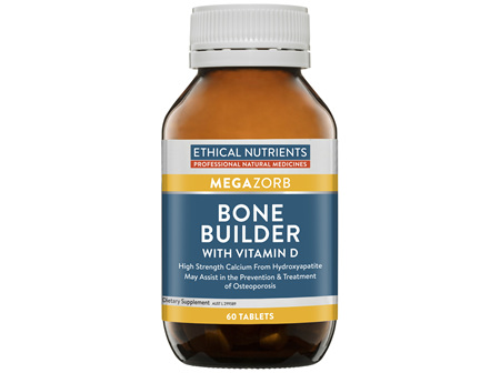Ethical Nutrients MEGAZORB Bone Builder with Vitamin D 60 Tablets