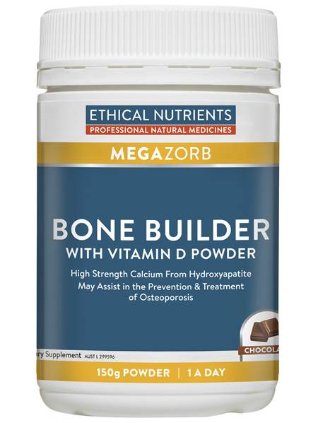 Ethical Nutrients MEGAZORB Bone Builder with Vitamin D Powder Chocolate 150g Powder