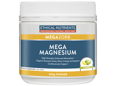 Ethical Nutrients MEGAZORB Mega Magnesium Citrus 200g Powder