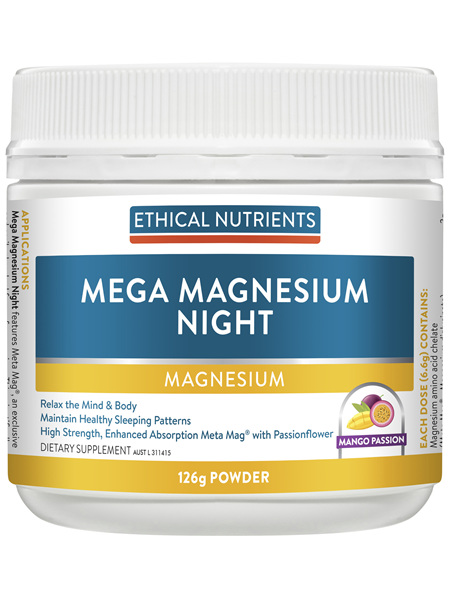 Ethical Nutrients MEGAZORB Mega Magnesium Night Mango Passion 126g