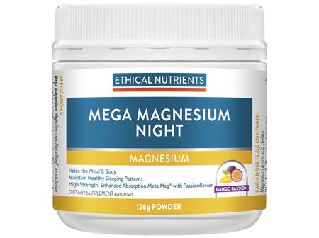 Ethical Nutrients MEGAZORB Mega Magnesium Night Mango Passion 126g