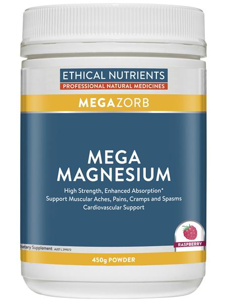 Ethical Nutrients MEGAZORB Mega Magnesium Raspberry 450g Powder