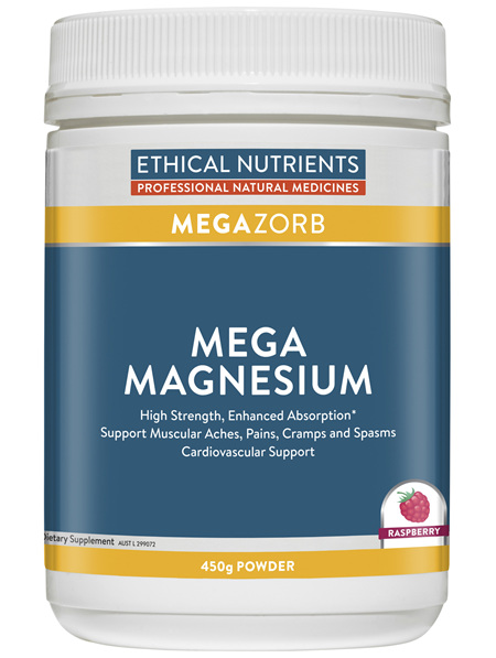 Ethical Nutrients MEGAZORB Mega Magnesium Raspberry 450g Powder