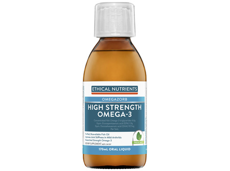Ethical Nutrients OMEGAZORB High Strength Omega-3 Fresh Mint 170mL