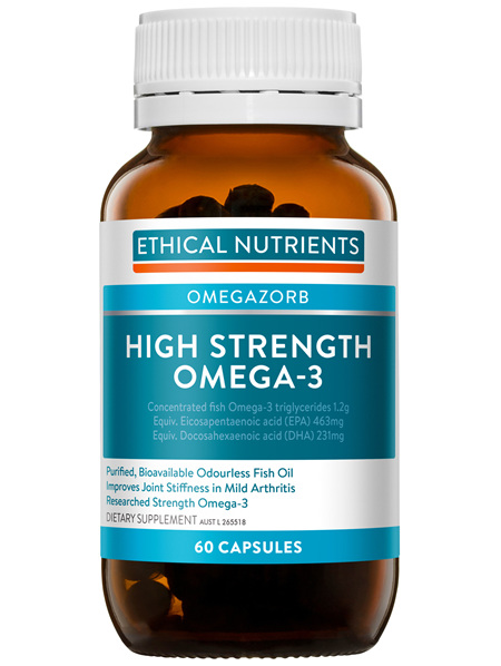 Ethical Nutrients OMEGAZORB High Strength Omega-3 60 Capsules