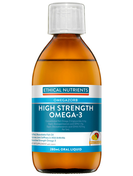 Ethical Nutrients OMEGAZORB High Strength Omega-3 Fruit Punch 280mL
