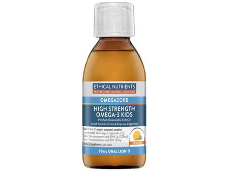 Ethical Nutrients OMEGAZORB High Strength Omega-3 Kids Orange 90mL