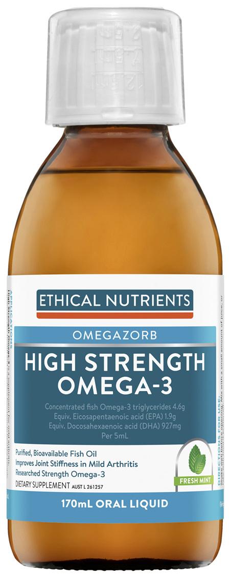 Ethical Nutrients OMEGAZORB High Strength Omega-3 Fresh Mint 170mL