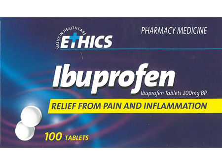 Ethics Ibuprofen 200mg 100 tabs