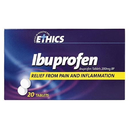 Ethics Ibuprofen 200mg Tablets 20s