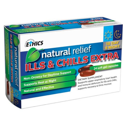 ETHICS ILLS  CHILLS EXTRA 24 tabs
