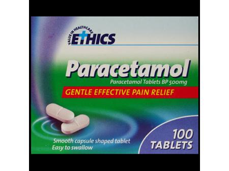 ETHICS Paracetamol 500mg 100 CS tab