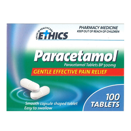 ETHICS PARACETAMOL 500mg 100 tabs