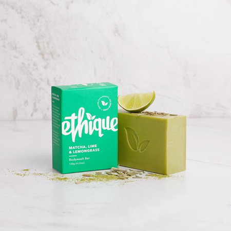 ETHIQUE Body Wash Bar Matcha, Lime & Lemongrass 120g