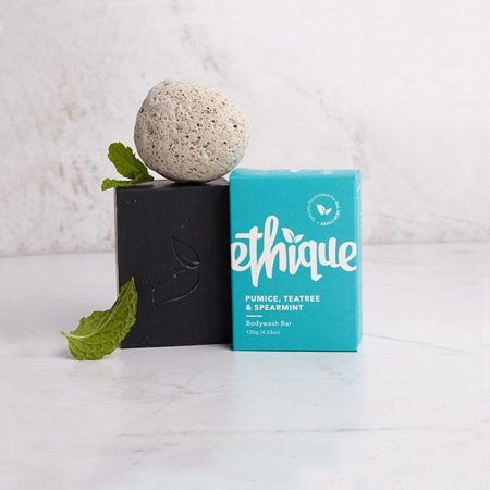 ETHIQUE Body Wash Bar Pumice, Tea Tree & Spearmint 120g
