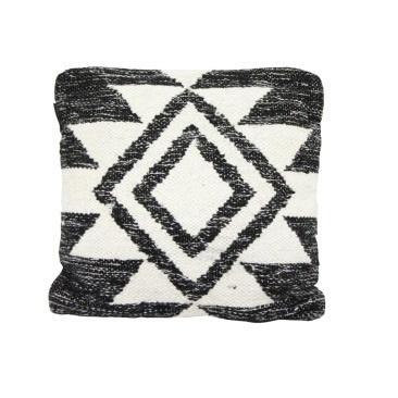 Faas Wool Cushion - Black And Cream 45x45cm