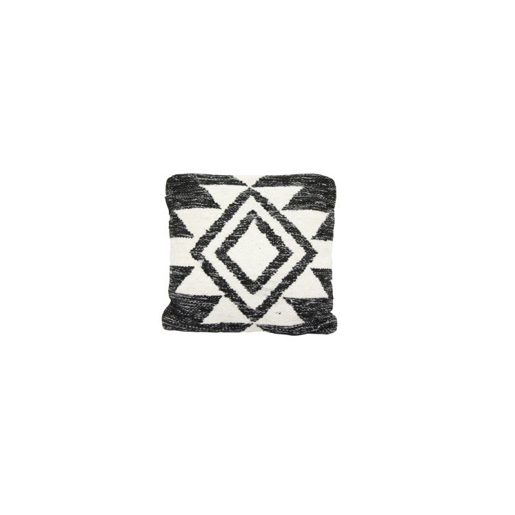 Faas Wool Cushion - Black And Cream 45x45cm