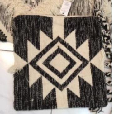 Faas Wool Cushion Black & Cream 40x60cm
