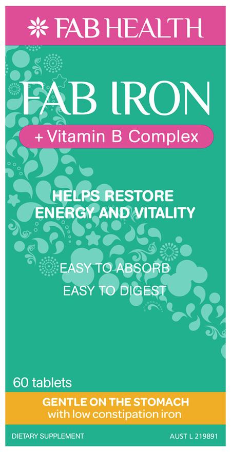 FAB IRON + Vitamin B Complex Oral Tablets
