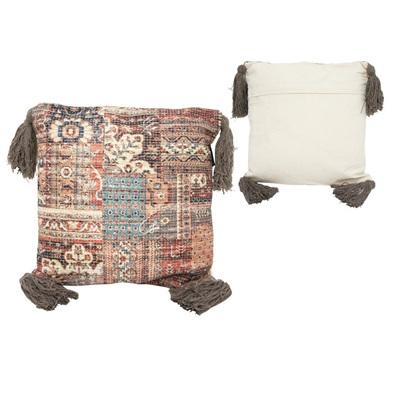 Faba Cotton Cushion W/ Tassels 45x45cmh