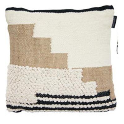 Faber Cushion - Black Tan & Cream