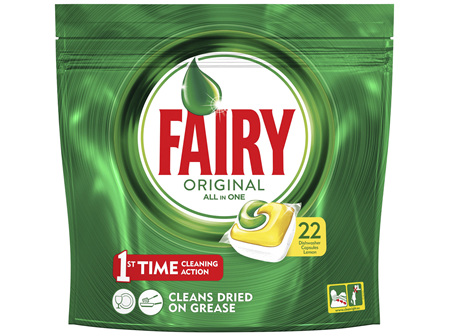 Fairy All in One Lemon Dishwasher Tablets 22 Capsules