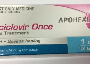Famciclovir Once Cold Sore Tab. 3 X 500mg