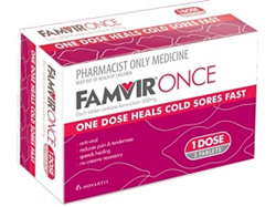 Famvir Once Cold Sore Tab. 3 X 500mg
