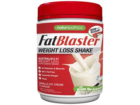FatBlaster Weight Loss Shake Vanilla 30% Less Sugar 430g