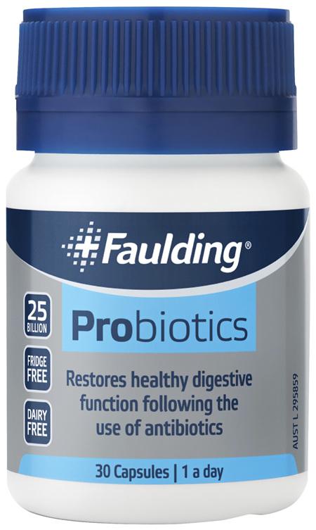 Faulding® Probiotics 30 Capsules