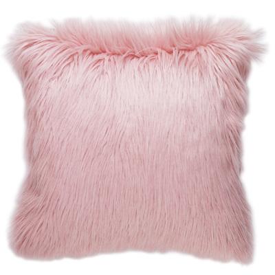 Faux Fur Cushion - Pink