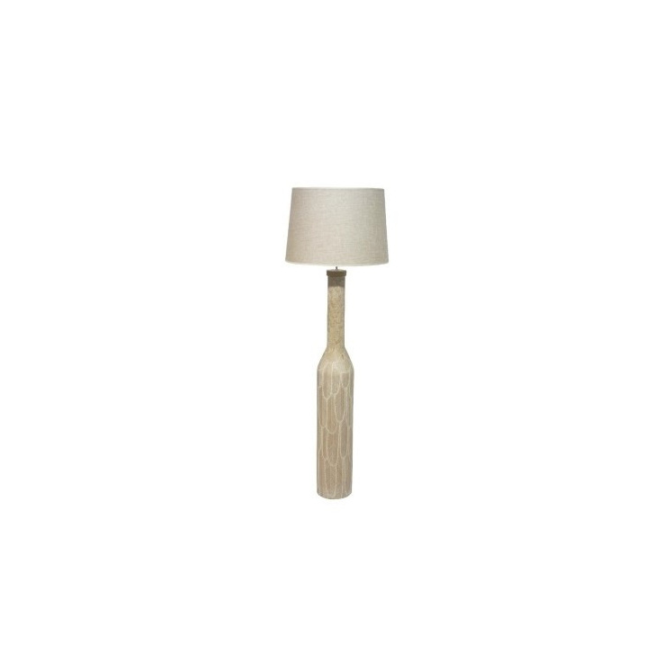 Feather Floor Lamp - Washed White