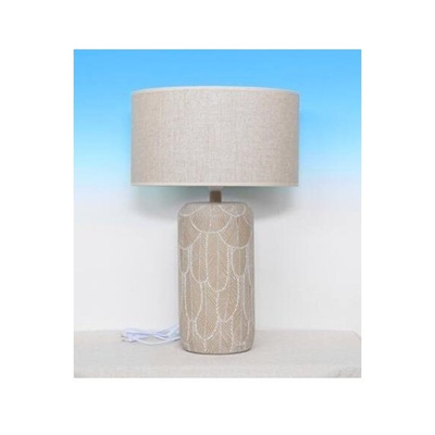 Feather Table Lamp - Washed White 71cmh