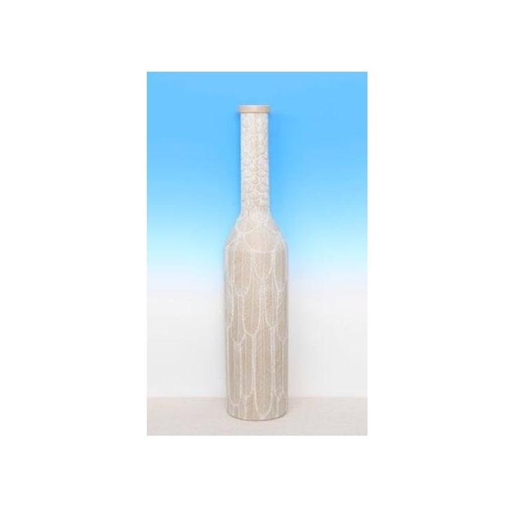 Feather Vase - Washed White 26cmh
