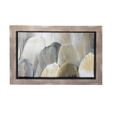 Feathers Framed Glass Print 60x90cm