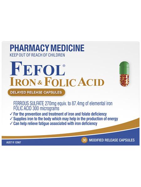 Fefol Iron & Folic Acid Capsules 30s