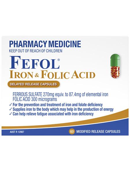 Fefol Iron & Folic Acid Capsules 60s