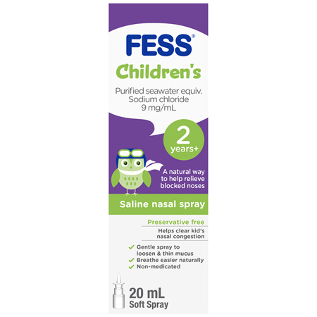 FESS Children's Nasal Spray 2 Years +20mL