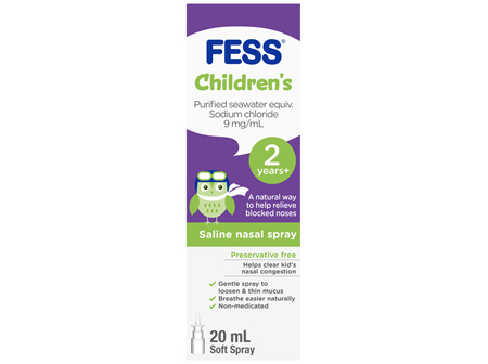 FESS Children's Nasal Spray 2 Years +20mL