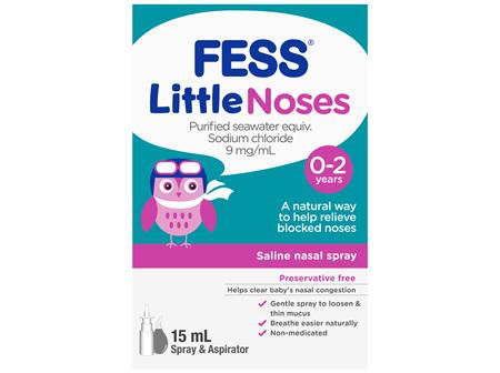 FESS Little Noses Nasal Spray + Aspirator 15mL