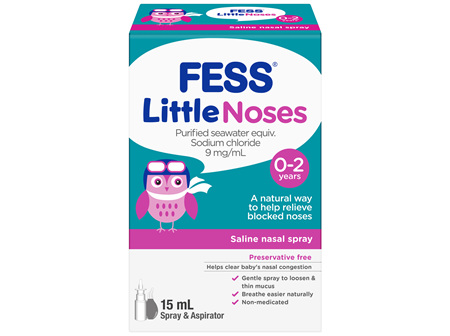 FESS Little Noses Nasal Spray + Aspirator
