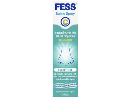 FESS Nasal Saline Spray Eucalyptus 30mL