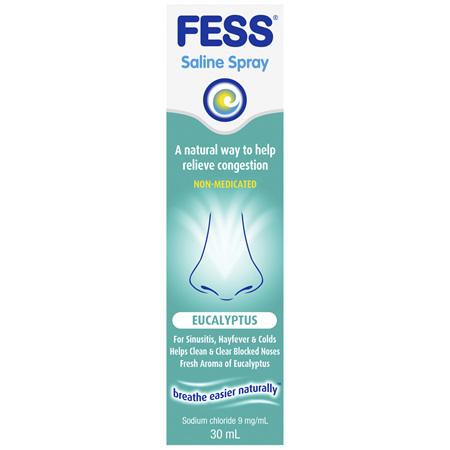 FESS Nasal Saline Spray Eucalyptus 30mL