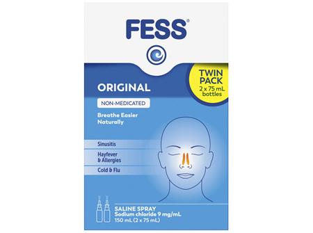 FESS Nasal Saline Spray Original 2 x 75mL
