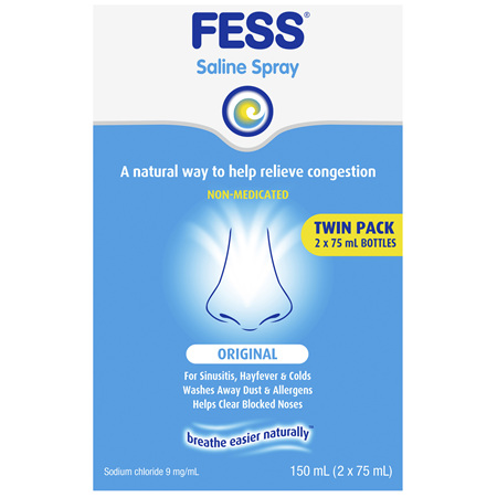 FESS Nasal Saline Spray Original 2 x 75mL