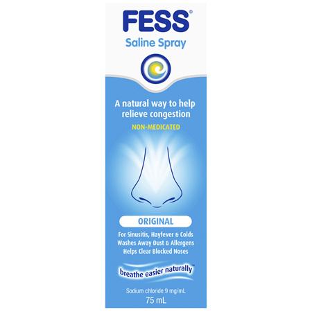 FESS Nasal Saline Spray Original 75mL