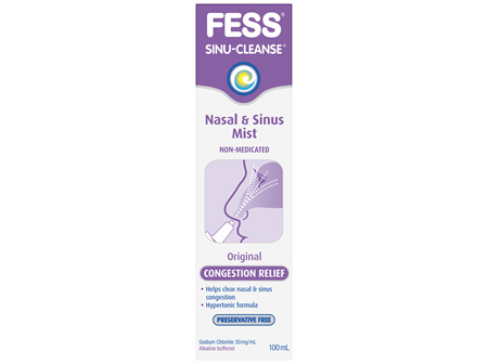 FESS Sinu-Cleanse Congestion Relief Nasal & Sinus Mist Original 100mL